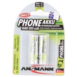 Pack 2 piles rechargeables AA 800mAh MaxE ANSMANN