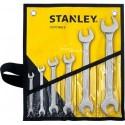 Jeu 6 clés à fourche STANLEY