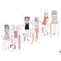 Sticker mural GIRLY XXL