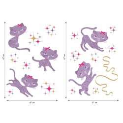 Sticker mural CHATOUILLE XL