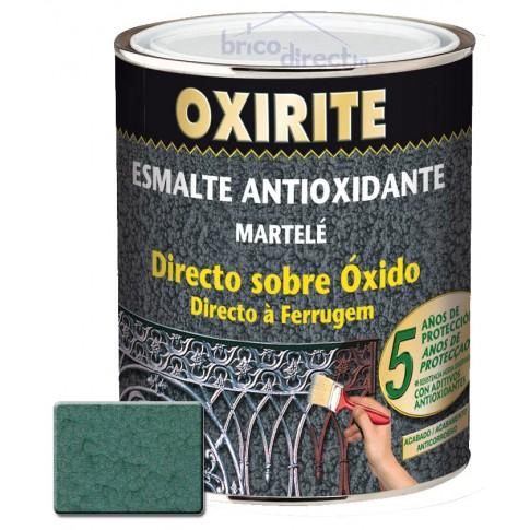 Peinture pour Métaux Vert Moyen effet martelé OXIRITE