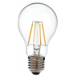 Ampoule LED ronde claire à filaments E27 6W JAUNE