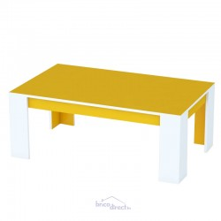 Table basse HELENA Couleur JAUNE/BLANC