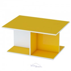 Table basse DONA Couleur JAUNE/BLANC