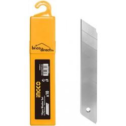 Pack de 10 lames de Cutter 18mm INGCO