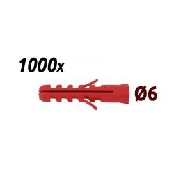 Pack 1000 chevilles 6mm