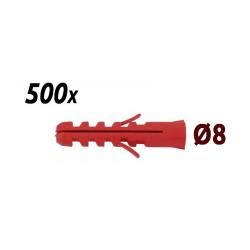 Pack 500 chevilles 8mm