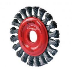 Brosse métallique torsadée pour meule à disque FECIN F18-125