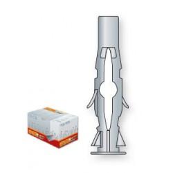 PACK 100 Chevilles en nylon avec collerette 8x50 TECFI
