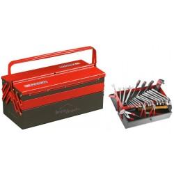 Caisse à outils métalliques avec 39 outils FACOM