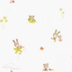 Papier peint Wonderland Peluche Orange 59243047 CASELIO