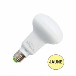 Ampoule réflecteur R63 LED 10W JAUNE E27