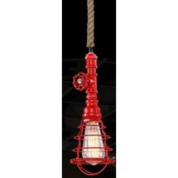 Suspension luminaire INDUSTRIAL STEAM Rouge EKOLED