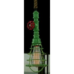 Suspension luminaire INDUSTRIAL STEAM Vert EKOLED