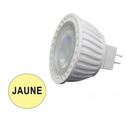 Ampoule spot LED 7W JAUNE GU5.3