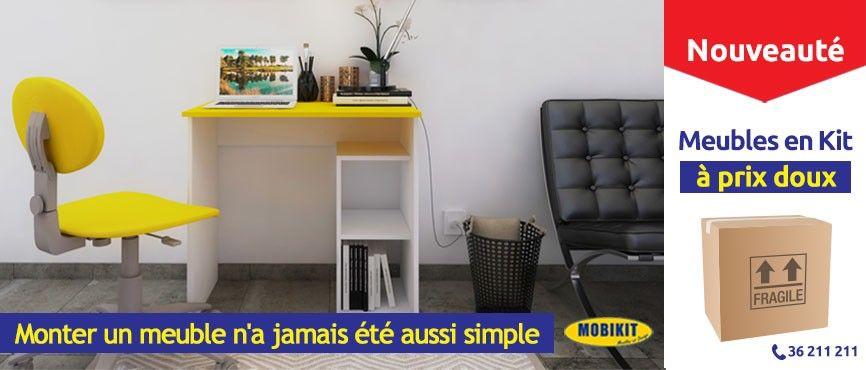 Vendue en kit, facile à monter et, incluant tout le nécessaire de montage. MOBIKIT: Des meubles de qualité à prix doux!