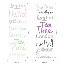 Sticker mural TEA TIME M