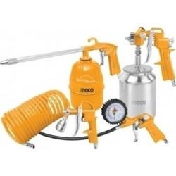 Kit 5 accessoires pneumatiques INGCO