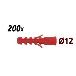Pack 200 chevilles 12mm