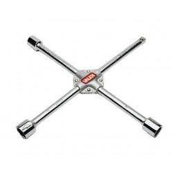 Clé en croix renforcée 17-19-21mm + carré VALEX