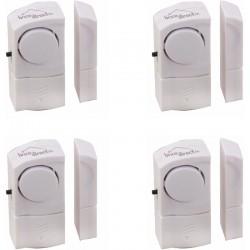 4 mini alarmes autonomes pour portes et fenêtres ALAM4
