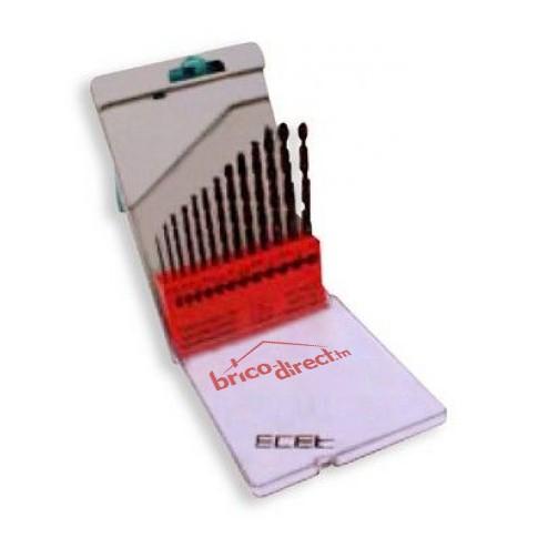 Coffret 13 mèches HSS métaux ECEF