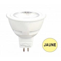 Ampoule spot LED JAUNE GU5.3 5.5W