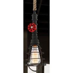 Suspension luminaire INDUSTRIAL STEAM Noir EKOLED