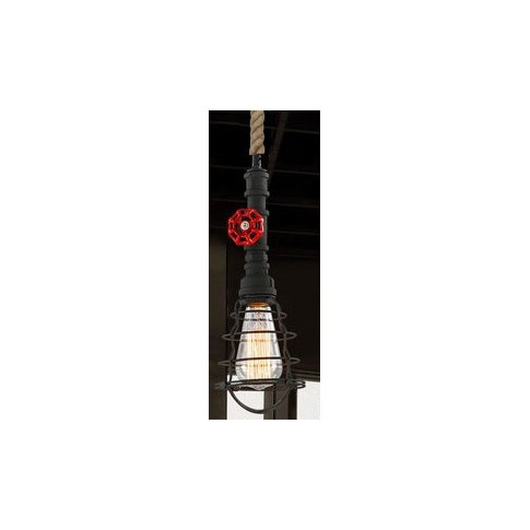 Suspension luminaire INDUSTRIAL STEAM Noir EKOLED