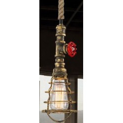 Suspension luminaire INDUSTRIAL STEAM Bronze EKOLED
