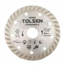 Disque Diamant Cannelé universel 115mm TOLSEN
