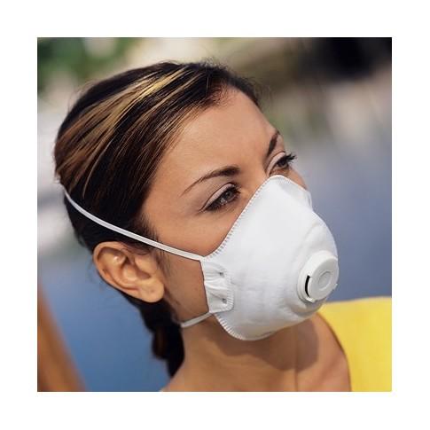 Masque à poussière avec valve de respiration