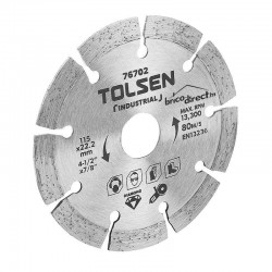 Disque diamant segmenté 115mm spécial béton/grés TOLSEN
