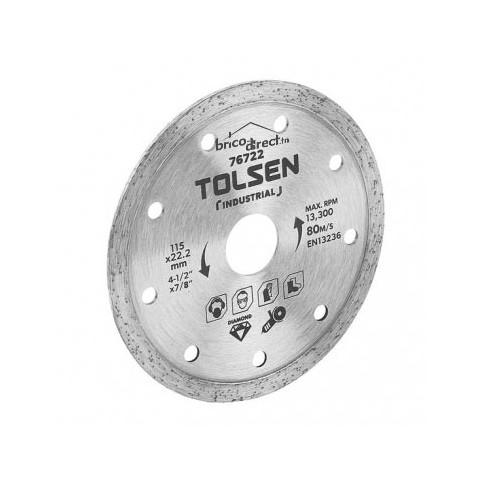 Disque diamant Turbo 115mm spécial Faïence TOLSEN