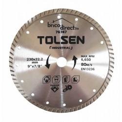 Disque Diamant Cannelé universel 230mm TOLSEN