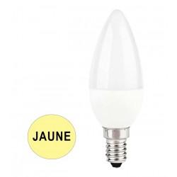 Ampoule coupe-vent LED 5.5W JAUNE E14