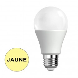 Ampoule LED spherique couleur  JAUNE 9W ADES