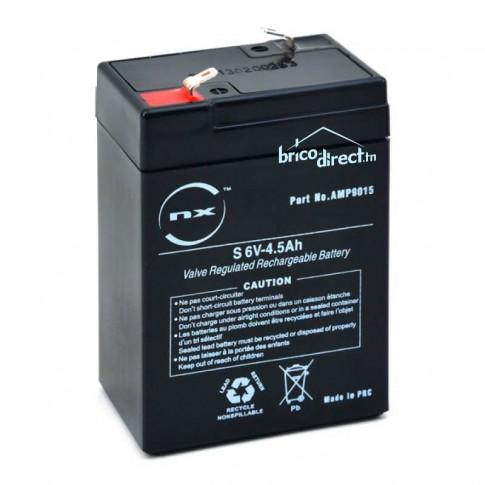 Batterie Plomb AGM 6V-4,5Ah T1 NX