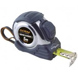 Roulette Mètre à mesurer Anti-choc 5m ACEM