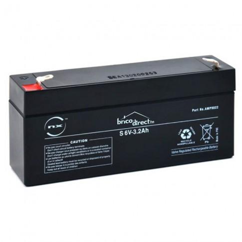 Batterie Plomb AGM 6V-3,2Ah T1 NX