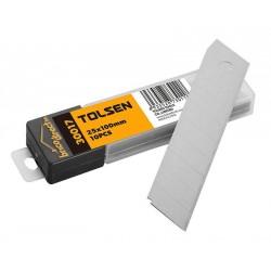 pack 10 lames pour cutter 25x125mm TOLSEN