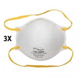 Kit de 3 masques à poussière TOLSEN