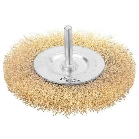 brosse m tallique cylindrique 75mm pour perceuses tolsen. Black Bedroom Furniture Sets. Home Design Ideas