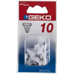 Pack de 10 crochets à trois clous GEKO