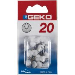 Pack de 20 crochets à un clou GEKO