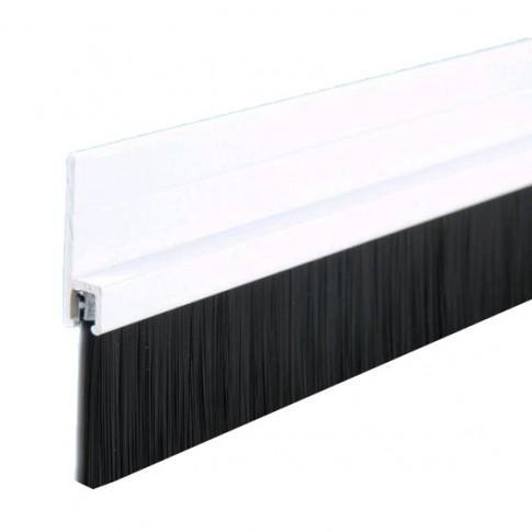 bas de porte en alu 1m avec brosse blanc geko. Black Bedroom Furniture Sets. Home Design Ideas