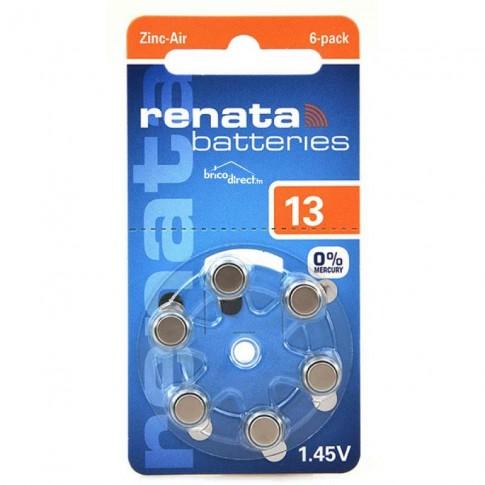 Pack 6 Piles Auditives type 13-PR48 RENATA