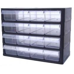 Rangement modulaire 16 tiroirs PP