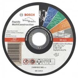 Disque de coupe Multi-matériaux 125mm BOSCH RAPIDO