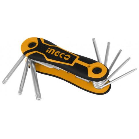 Jeu de 8 clés TORX pliantes INGCO